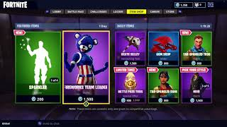 NEW FIREWORKS TEAM LEADER, SPARKLER EMOTE AND NEW DEFAULT SKIN ITEMS IN FORTNITE ITEM SHOP