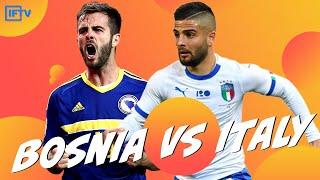 BOSNIA VS ITALY UEFA NATIONS LEAGUE LIVE GOAL REACTIONS