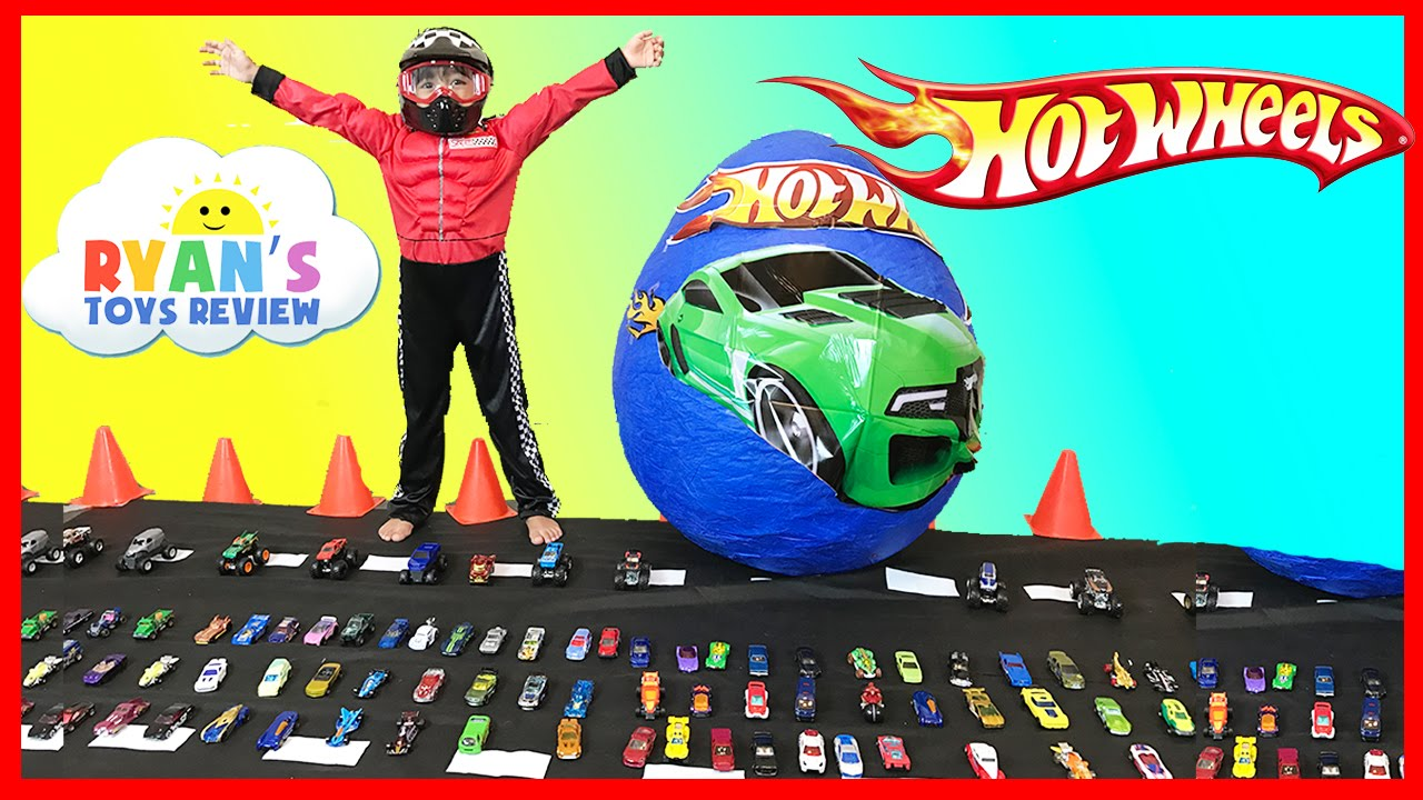 Ryan Toy Video Toys Giant Egg Hot Wheels Surprise Toys Opening With Disney