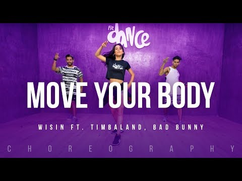 Move Your Body - Wisin ft. Timbaland, Bad Bunny | FitDance Life (Coreografía) Dance Video