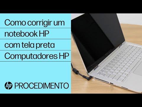 Como corrigir um notebook HP com tela preta | Computadores HP | HP