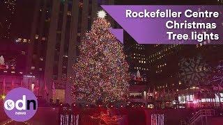 Rockefeller Centre Christmas Tree lights up New York