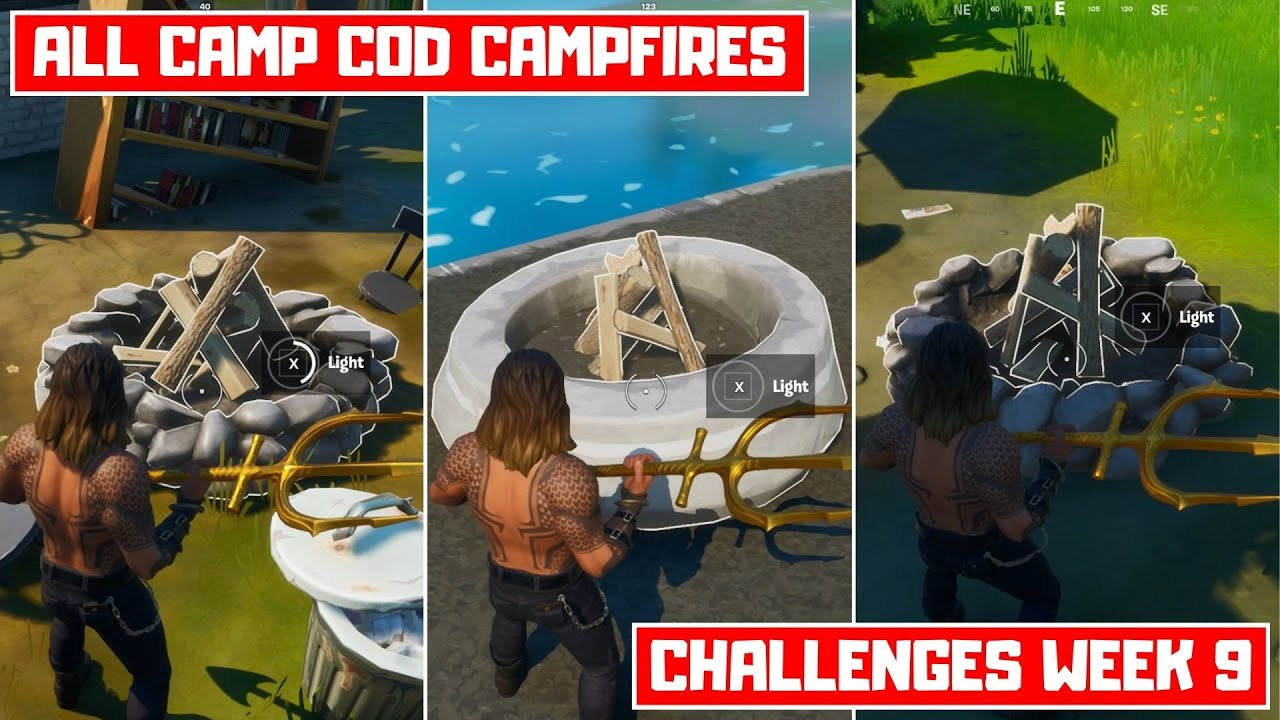 Stoke Campfires at Camp Cod! All 3 Camp Cod Campfire Locations! - Challenges Week 9