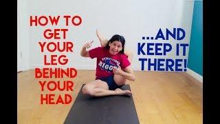 how to keep your leg behind your head without hands - eka pada sirsasana shana meyerson YOGAthletica