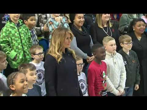 Melania Trump visits servicemembers and families