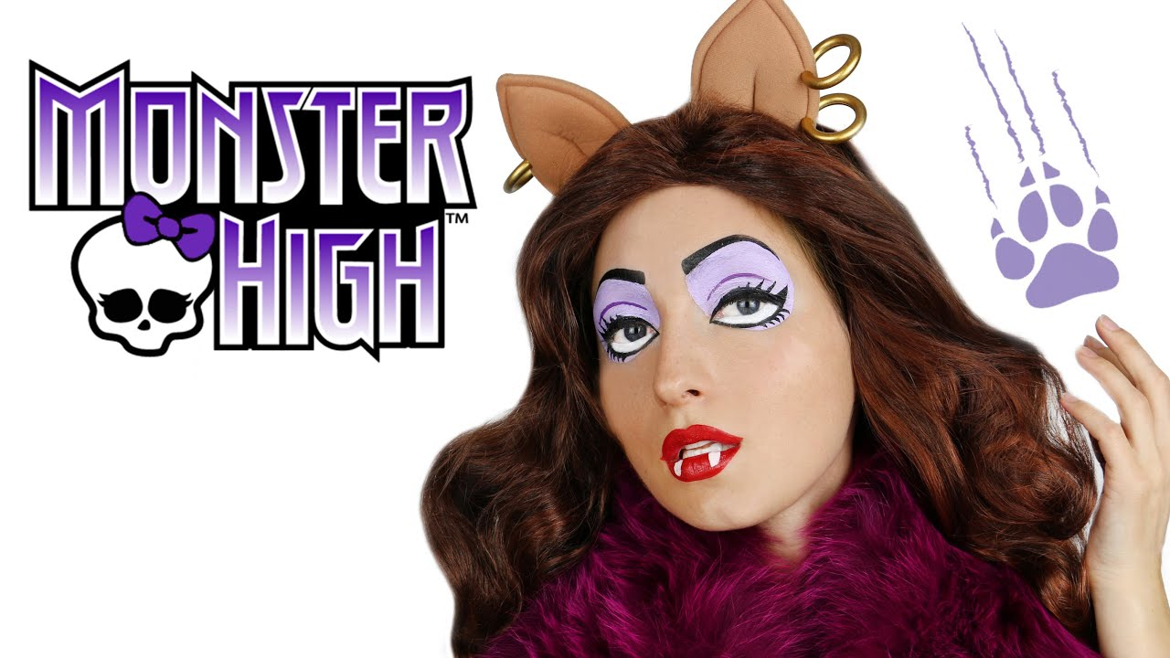 clawdeen wolf monster high doll makeup tutorial for halloween youtube - Clawdeen Wolf Halloween Costume
