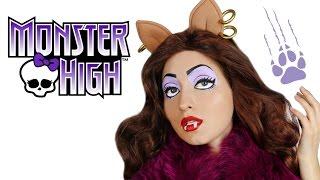 Clawdeen Wolf Monster High Doll Makeup Tutorial for Halloween