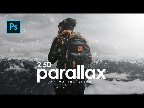 How To Create 2.5D Parallax Animation Effect In Photoshop - Photoshop Tutorials
