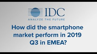 Smartphone Market Performance 2019 Q3 in EMEA