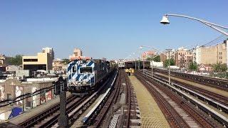 nyc subway hd 60 fps r156 ol 937 work locomotive leads work train past ocean parkway 6 25 16