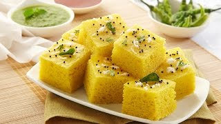 Repeat youtube video Gujrati Khaman Dhokla # Soft and Spongy Dhokla Recipe in hindi # Instant Besan dhokla # dhokla