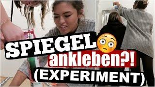 15KG Spiegel ANKLEBEN?! EXPERIMENT! Wird es klappen? | ShantiFun