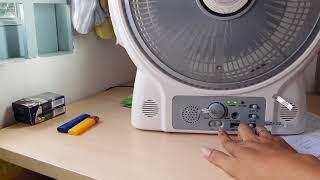 Quạt tích điện kiêm Radio, sạc điện thoại, đèn led Hayasa Ha-900 FR