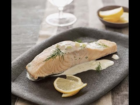 How To Make Poached Salmon with Cucumber Dill Sauce