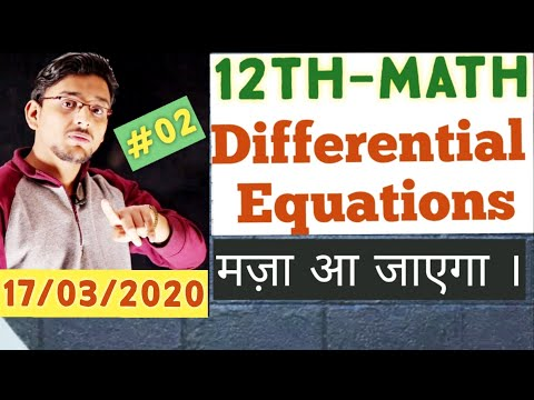 💥Class12th|Math|Chapter 09|  Differential Equation one Shot| Part-2💥|Comp. Ncert Math Solve here