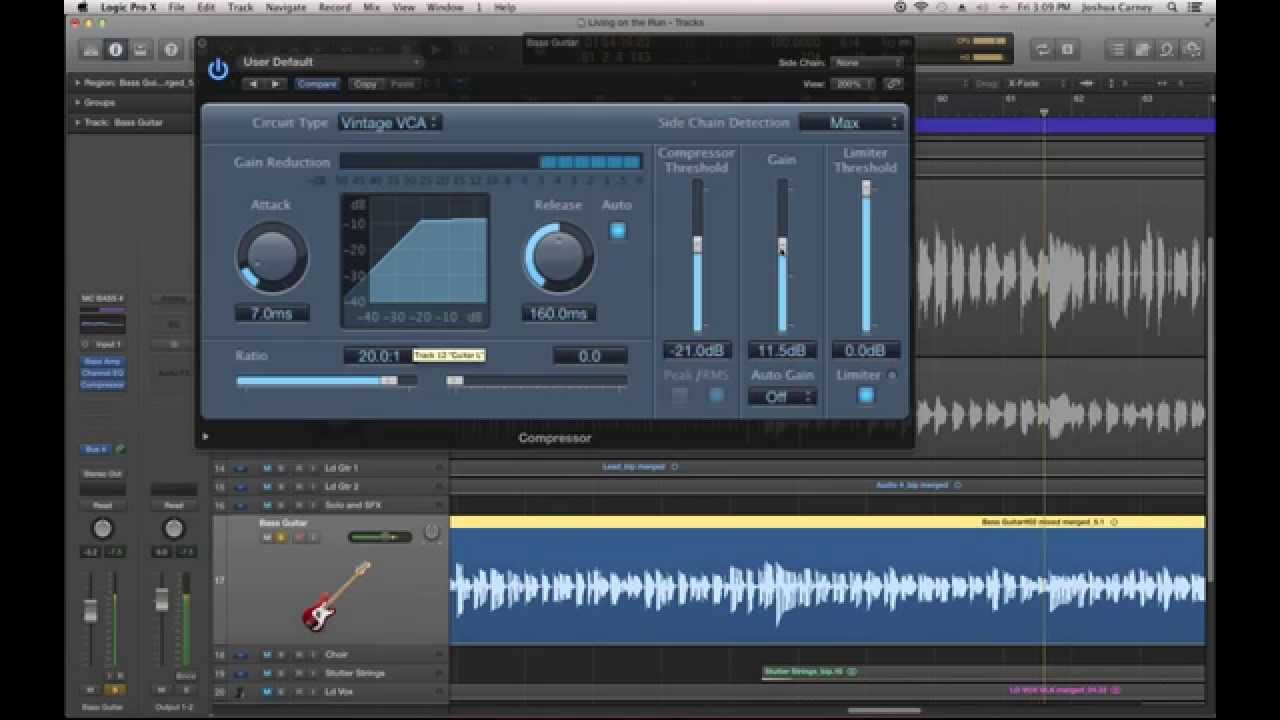 Logic Pro X - #64 - Mixing (part6): Compression for Guitar and Bass