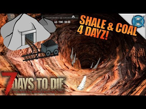 SHALE & COAL 4 DAYZ! | 7 Days to Die | Let's Play Gameplay Alpha 16 | S16E43