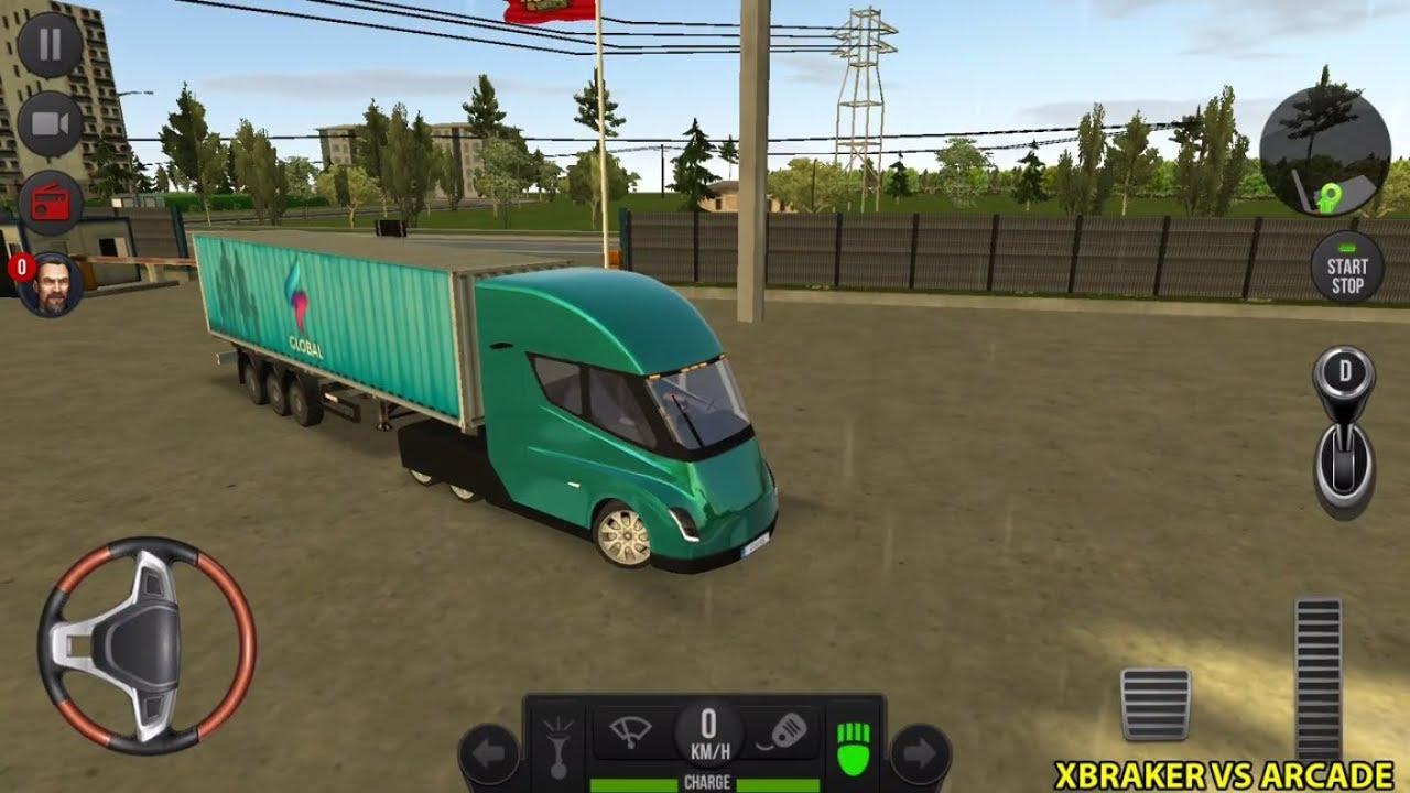 Truck Simulator 2018 Europe New Tesla Electric Truck Unlocked