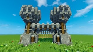СТАРИННЫЕ (СРЕДНЕВЕКОВЫЕ) ВОРОТА В МАЙНКРАФТ (FANTASY GATE MINECRAFT)(В этом видео я покажу, как построить старинные ворота в Майнкрафт. Такой вход для средневековой стены можно..., 2016-12-07T09:47:06.000Z)