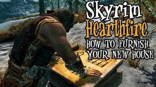 Skyrim Hearthfire - Tips & Tricks for Furnishing Your New House!!
