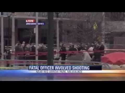 RED ARROW PARK MILWAUKEE POLICE SHOOTING PROGRAMMING BREAK CBS 58 NEWS 4 30 2014