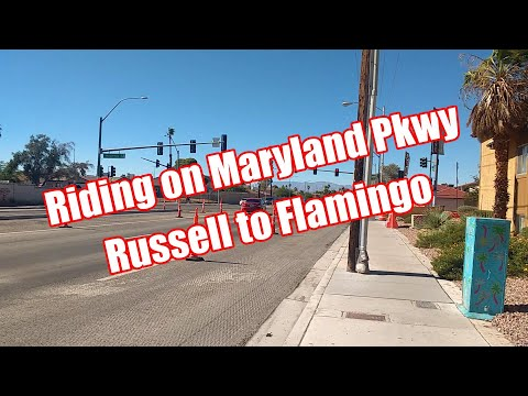 Cycling Maryland Pkwy Las Vegas Airport to Flamingo