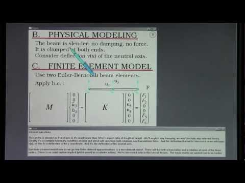 FEA. Normal Modes.  Lecture 3, Part A.