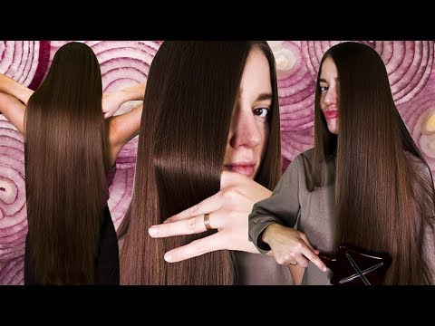 Лучшая в мире луковая маска для роста волос с имбирем 😱 Как отрастить длинные густые волосы дома