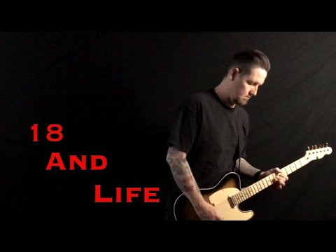 Skid Row 18 and Life instrumental guitar cover by Mike Feeney thumbnail