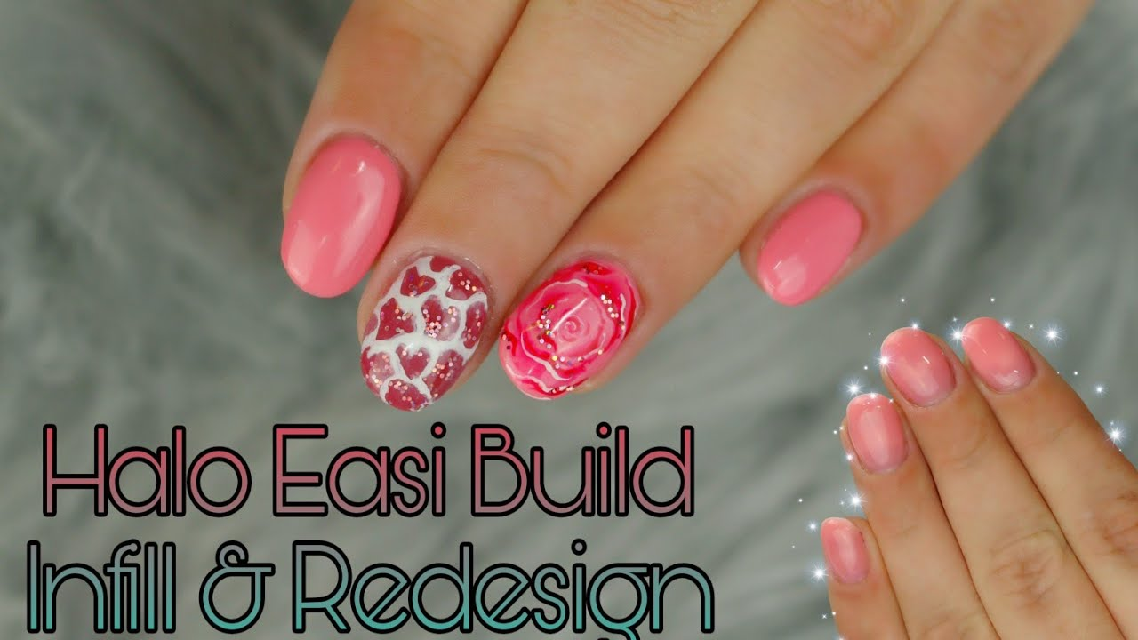 Short Extension Infill & Redesign | Pure Nails | Halo Easi Build ...