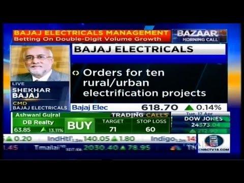 Bajaj Electricals Limited CMD - Mr.Shekhar Bajaj on CNBC TV 18 - Bazaar Morning Call