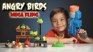 Angry Birds MEGA FLING GAME! Review and Epic Launcher FAIL!