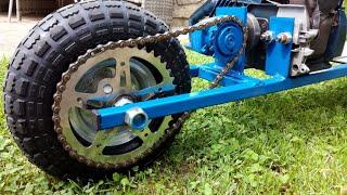 Homemade Motorised Scooter - DIY Motorised Scooter From Scrap