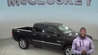 A99133JA Used 2016 Ram 1500 SLT 4WD Crew Cab Black Test Drive, Review, For Sale -