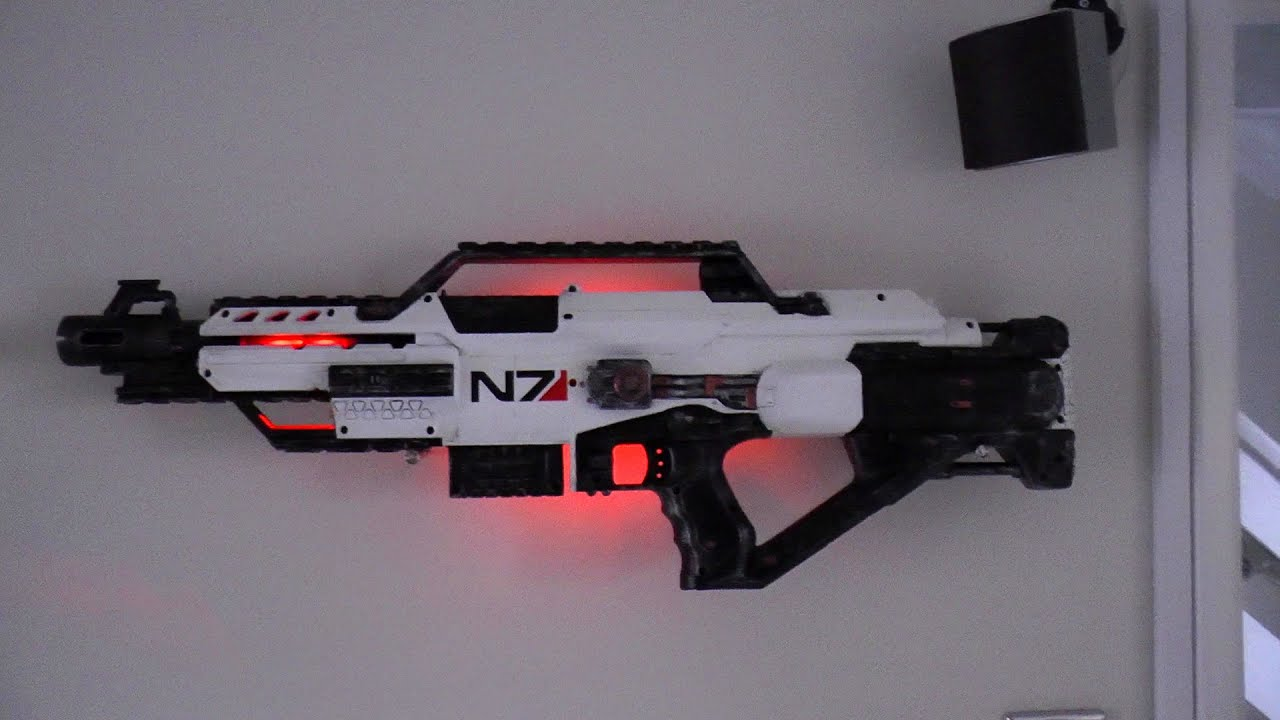 How To Paint A Nerf Gun Mass Effect Style Youtube