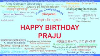 Praju   Languages Idiomas - Happy Birthday