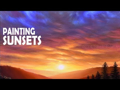 How to Paint a Gorgeous Sunset | Acrylic Painting