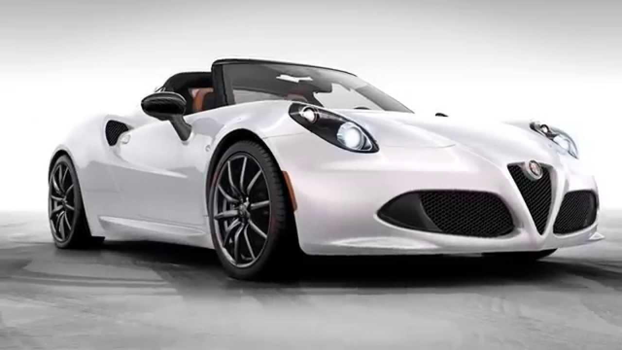 The all-new 2015 Alfa Romeo 4C Spider كل جديد ألفا روميو 4C 2015 العنكبوت