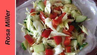 Салат без углеводов. Вкусный салат с паприкой. Очень свежий и пикантный  вкус.