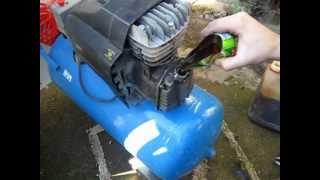 Avería en compresor de aire a presión. (válvula reguladora de aire), Limpieza y mantenimiento.