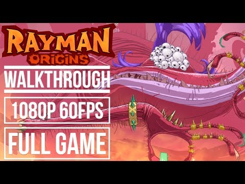 RAYMAN ORIGINS Gameplay Walkthrough Full Game No Commentary (1080p 60fps)