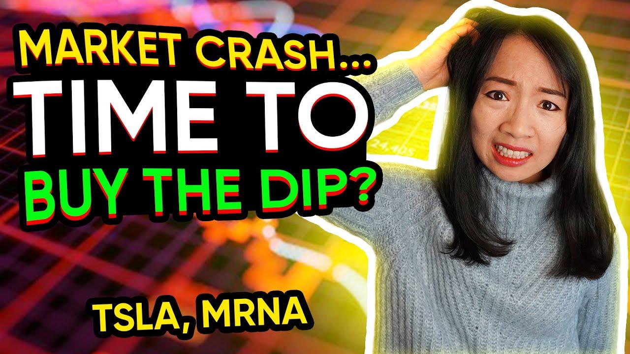 Download Stock Market Crash - Is it Time To Buy The Dip? $MRNA $TSLA trading recap