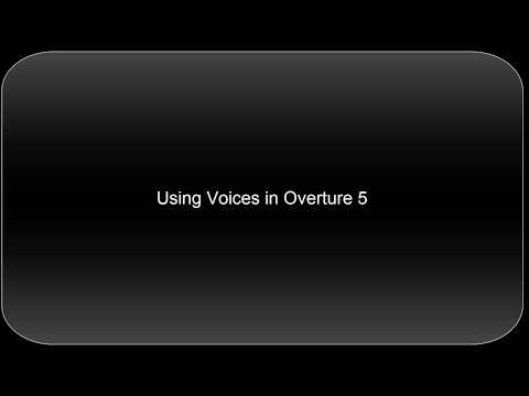 Manipulating Voices in Overture 5