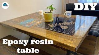 【レジンテーブル作り方】40ℓのエポキシ樹脂を流し込み、自分の宝物を閉じ込めた!【Epoxy resin table DIY】How to make