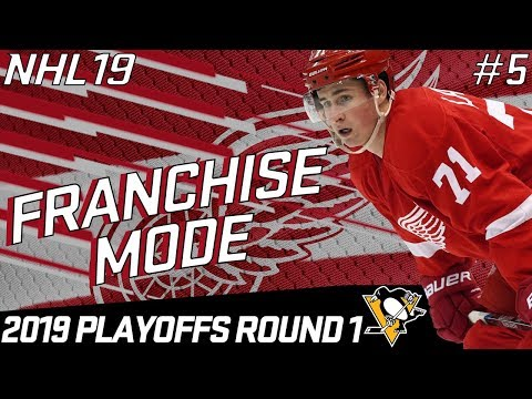 "NHL 19 FRANCHISE MODE | DETROIT RED WINGS #5 ""PLAYOFFS ROUND 1"""