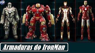 todas as armaduras do homem de ferro