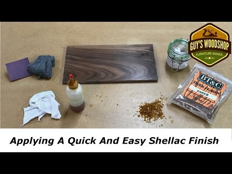 Applying A Quick And Easy Shellac Finish
