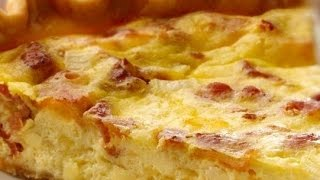 How To Prepare Bacon And Cheddar Cheese Quiche -healthy Food,kids Recipes,funny Hot Recipes