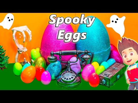 PAW PATROL + Scooby Doo Surprise Egg Compilation Spooky Halloween Surprise Egg Toys Video