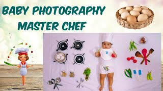 Baby Photoshoot making at home as MasterChef | Little Masterchef | Baby Photoshoot making ideas
